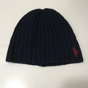 Men's Polo by Ralph Lauren black beanie hat